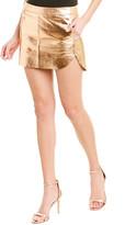 Mason by Michelle Mason Metallic Leather Mini Skirt