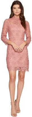 J.o.a. Women's Mock Neck Lace Mini Dress