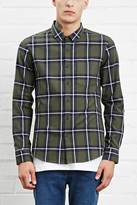 Forever 21 Fitted Tartan Pocket Shirt