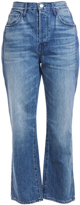 3x1 Austin Cropped Faded High-rise Bootcut Jeans