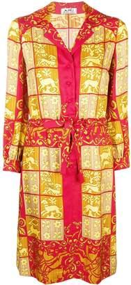 Hermes Pre-Owned baroque printed shirt dress