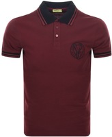 Versace Tipped Polo T Shirt Red