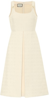 Gucci Cotton and wool tweed midi dress