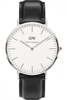 Daniel Wellington Mens Sheffield Silver 40mm Watch DW00100020