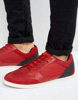 Aldo Sagrani Leather Trainers