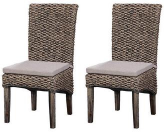 Coast To Coast Set Of 2 Sea Grass Dining Chairs
