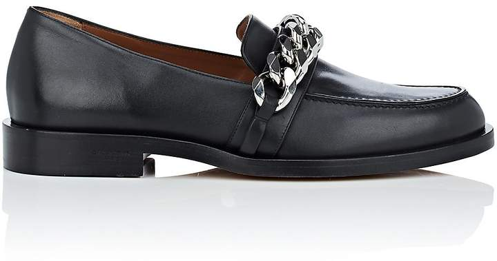 Givenchy Women's Chain-Embellished Leather Loafers
