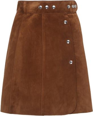 Prada Studded Suede Mini Skirt