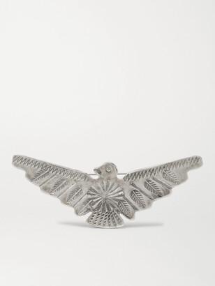 Peyote Bird Soaring Bird Engraved Sterling Silver Pin