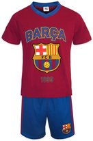 F.C. Barcelona FC Barcelona Official Soccer Gift Boys Short Pajamas Blue