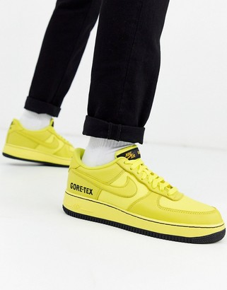 Nike Force 1 '07 Gore-Tex trainers in yellow CK2630