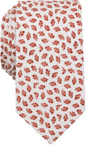 Bar III Men's Rust Foliage Print Slim Tie, Only at Macy's
