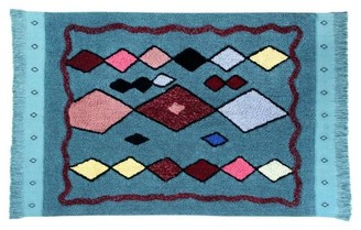 Lorena Canals Draa Rug - Blue/Teal/Red