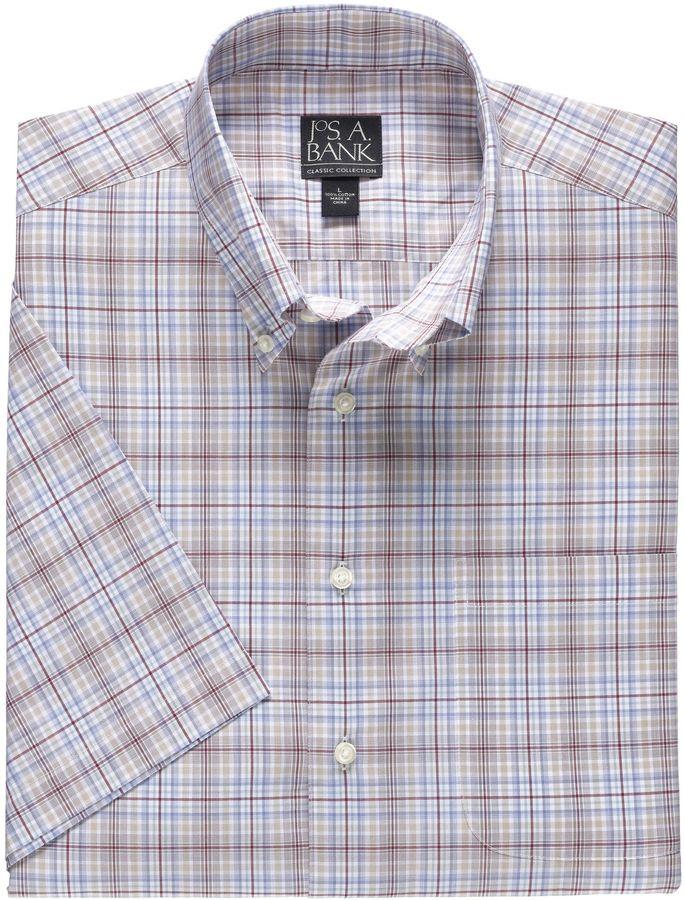 Jos. A. Bank Factory Madras Short Sleeve Sportshirt