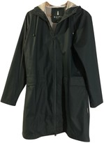 Rains Green Plastic Trench coats