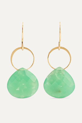 Melissa Joy Manning Net Sustain 14-karat Gold Chrysoprase Earrings