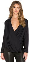 James Perse Wrap Raglan Top