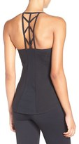 Zella Women's Midnight Cutout Racerback Tank