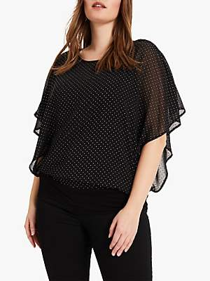 Studio 8 Nicola Stud Embellished Top, Black