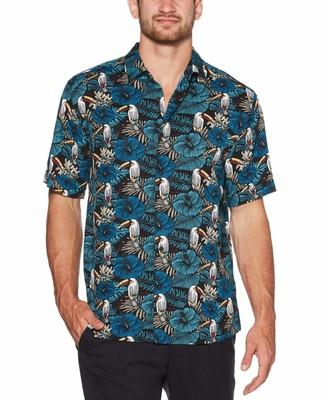 Cubavera Eclectic Tropical Toucan Print Shirt
