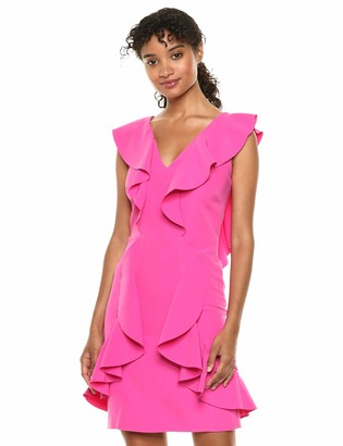 Laundry by Shelli Segal Women's Ruffle Core Cocktail Dress