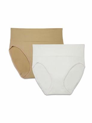 Vanity Fair Brilliance by Women's 2-Pack Seamless Smoothing Hi-Cut Panty 14274