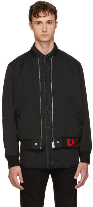 Diesel Black J Gate Bomber Jacket