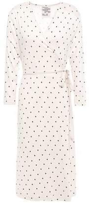 Baum und Pferdgarten Jillian Polka-dot Stretch-jersey Wrap Dress