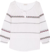 Paul & Joe Embroidered Cotton Blouse - Off-white