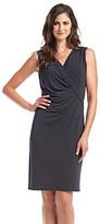 Jones New York Collection Sleeveless Faux Wrap Dress
