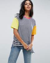 Asos Top In Cutabout Colourblock Stripe