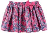 Osh Kosh Girls 4-8 Pleated Floral Skirt