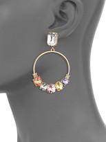 Ava & Aiden Goldtone Multi-Color Gemstone Dangle Hoop Earrings
