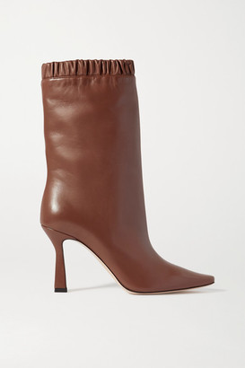 Wandler Lina Leather Ankle Boots - Brown