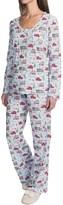 Carole Hochman Holiday Bouquet Cotton Jersey Pajamas - Long Sleeve (For Women)