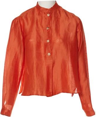 Emporio Armani Orange Cotton Top for Women