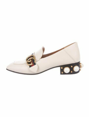 Gucci Penny Faux Pearl Accents Loafers