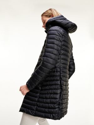 Tommy Hilfiger Quilted Waist Tie Hooded Coat