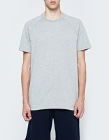 Reigning Champ SS Raglan Tee - Mesh Jersey in Heather Grey