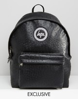Hype Exclusive Backpack in Faux Ostrich Leather