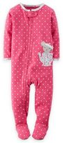 Carter's Zip-Front Mouse Teacup Footed Pajama in Pink