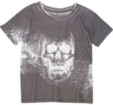 River Island Mini boys black skull print t-shirt