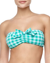 Juicy Couture Gingham-Check Bandeau Swim Top