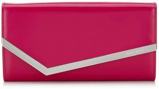 Jimmy Choo EMMIE Hot Pink Patent and Suede Clutch Bag