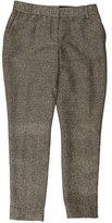 Diane von Furstenberg Metallic-Accented Straight Pants