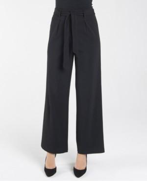 Nanette Lepore Nanette nanette Elastic Stretch Regular Wide Leg Loose Pant with Self Sash Belt