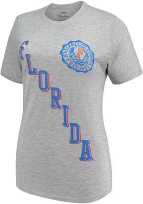 Women's Pressbox Heathered Gray Florida Gators Sundown Tri-Blend T-Shirt