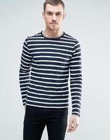 Celio Long Sleeve Top With Stripe