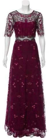 Marchesa Embroidered Evening Dress