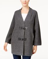 JM Collection Wool Buckle-Front Cardigan, Only at Macy's